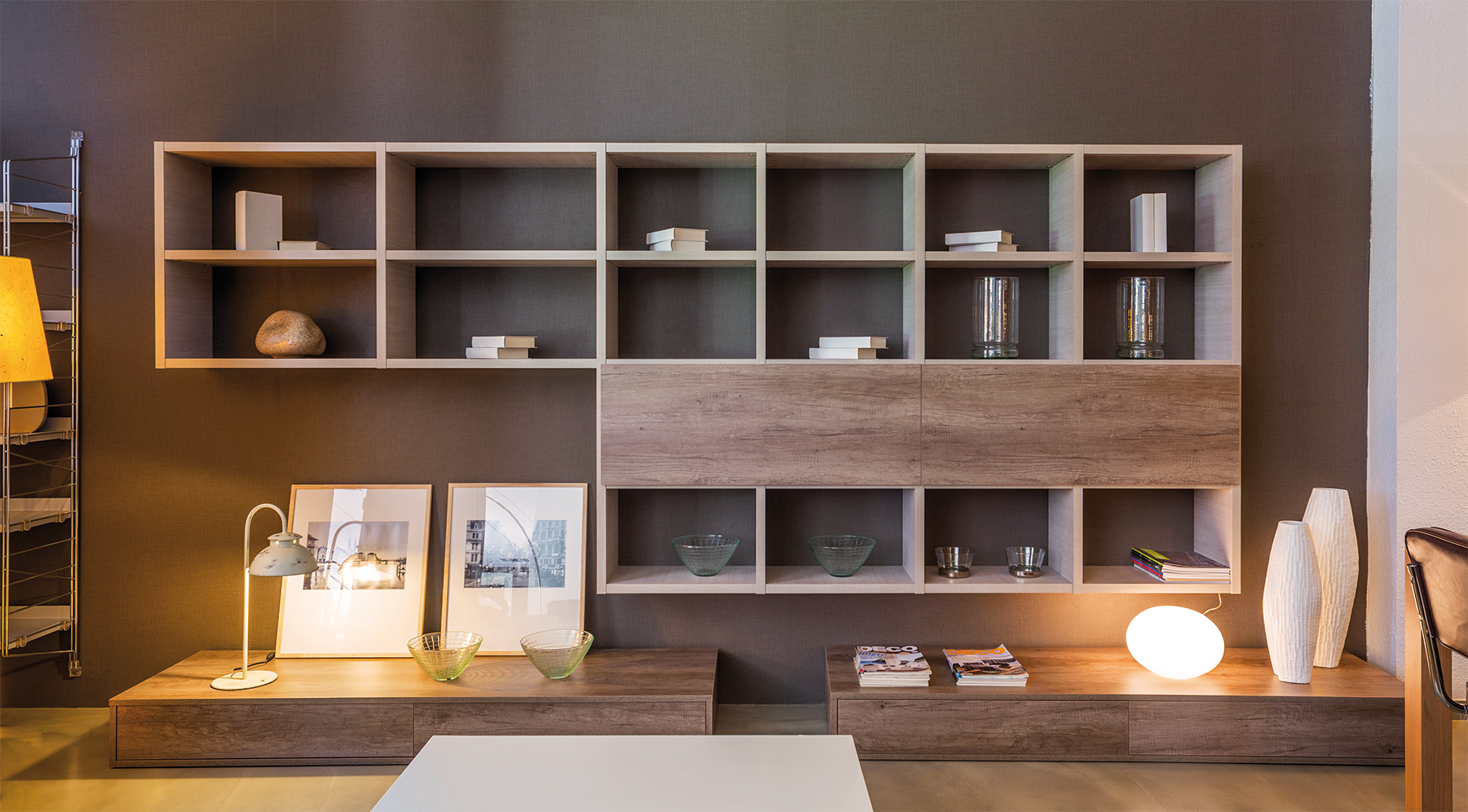 Bibliothèque contemporaine design sur-mesure1 - AM agencements